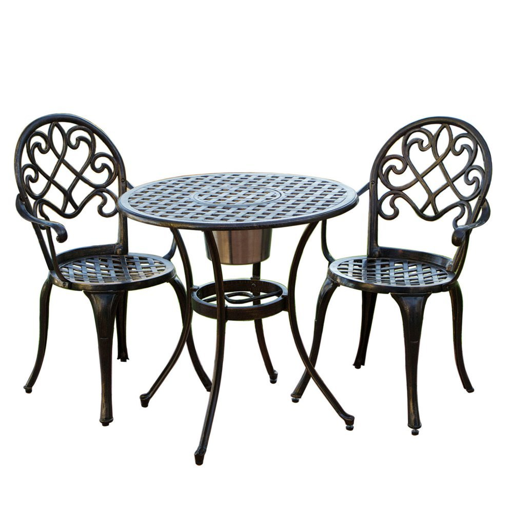 Amazon.com : Best-selling Bistro Set with Ice Bucket : Outdoor And ...