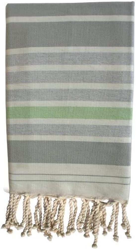 Verde Algod/ón HR Decoraction Sahara Toalla de Playa 200x100x0.5 cm