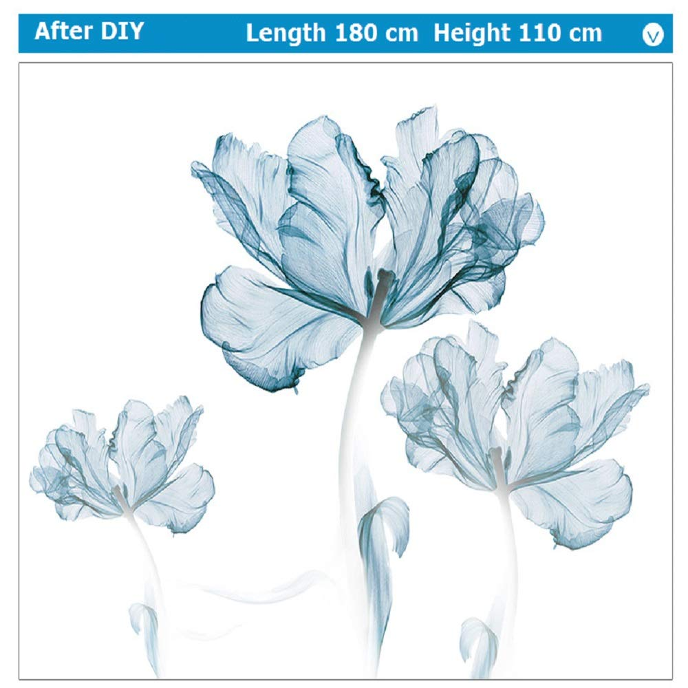 DERUN TRADING Wall Stickers & Murals Home Décor Home Décor Accents for Living Room Flower Wall Decals Home Improvement Paint Wall Treatments Wall Decals Murals Decor Vinyl Removable Mural Paper … by DERUN TRADING (Image #9)