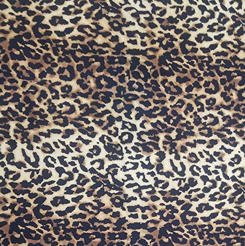 - Cheetah Print Cotton Poplin Fabric - 2 Yards