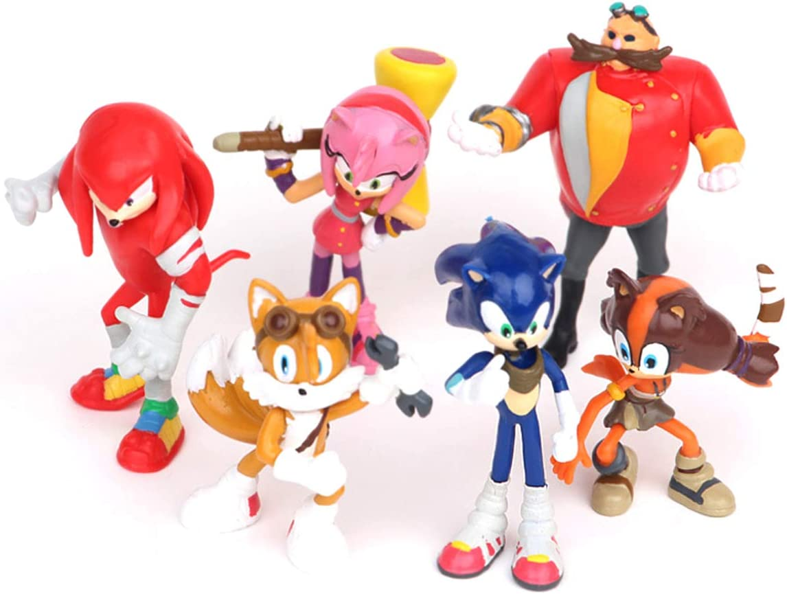 Cake Toppers Cake Toppers Cake Decoration 2-2.8 6 Pcs Sonic The Hedgehog Action Figures Cupcake Topper
