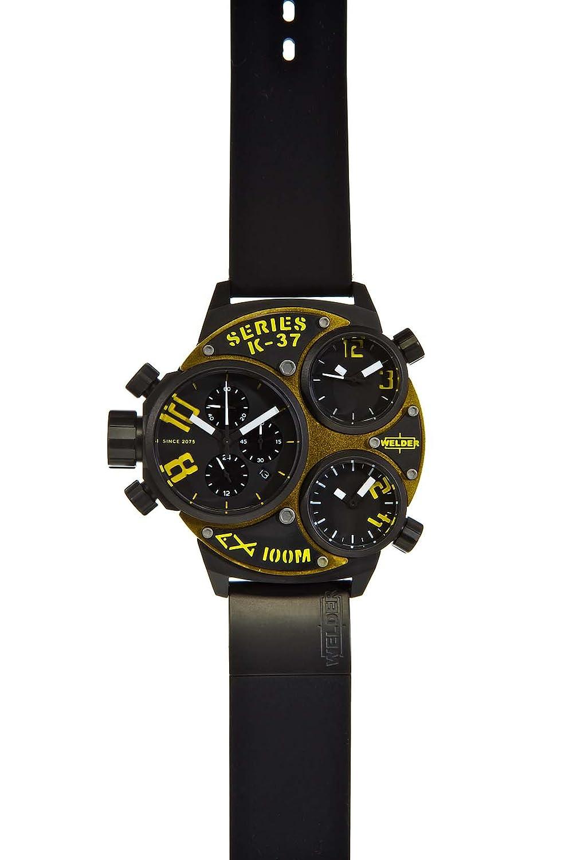 Welder K37-6501 - Reloj para hombres, correa de goma color negro: Amazon.es: Relojes