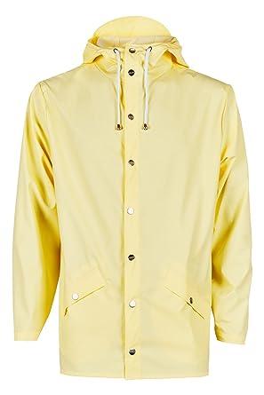 Rains Jacket - Manteau Imperméable - Homme - Jaune (Wax Yellow) - Small ( 0f4b73344948