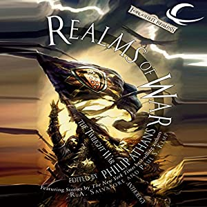 Realms of War: A Forgotten Realms Anthology Audiobook by R. A. Salvatore, Ed Greeenwood, Paul S. Kemp, Elaine Cunningham, Lisa Smedman, Richard Lee Byers, Philip Athans (editor) Narrated by Lory Reyes