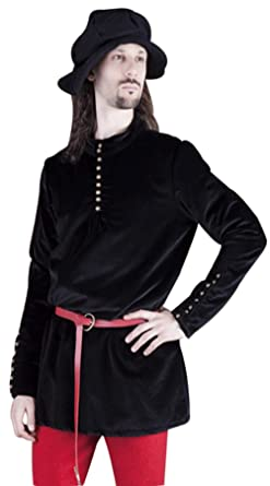 Amazon com: Medieval Knight Black Viking LARP Pirate Shirt