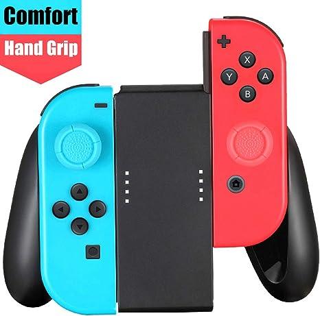 TPFOON Controlador de Agarre de Mano Compatible con Nintendo Switch Joy con, 2 Unidades de Tapones de Pulgar incluidos: Amazon.es: Electrónica