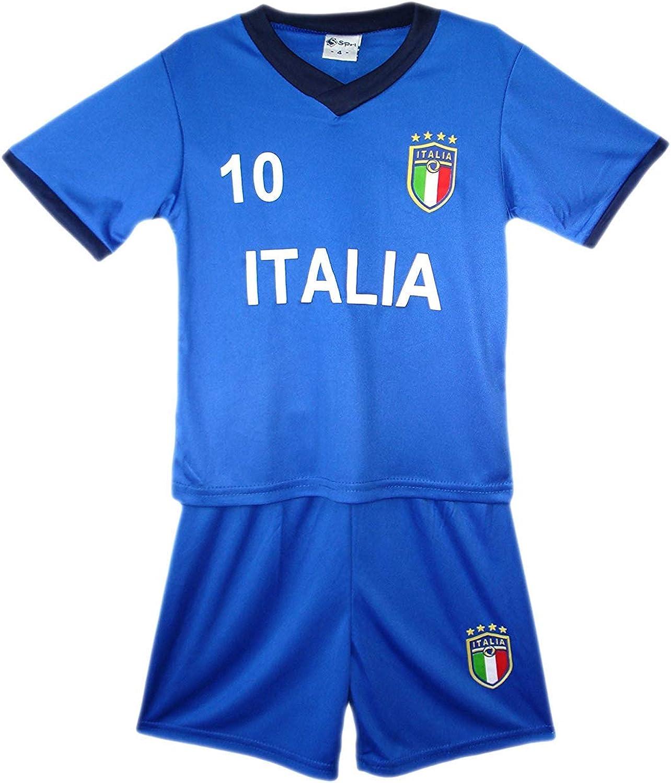 Default Aelstores. Niños Fútbol Kit Set Shorts Verano Nuevo Niña Camiseta Talla Edad 2-14 Color: Italia Azul Talla:13-14 Años: Amazon.es: Ropa y accesorios