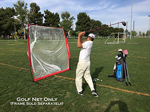 PowerNet Golf Practice 7ft x 7ft NET ONLY | 49 sqft of Hitting Area | Replacement Net | Perfect for Any Backyard, Driveway or Garage | Great for Working on Any Type of Swing by PowerNet (Image #2)