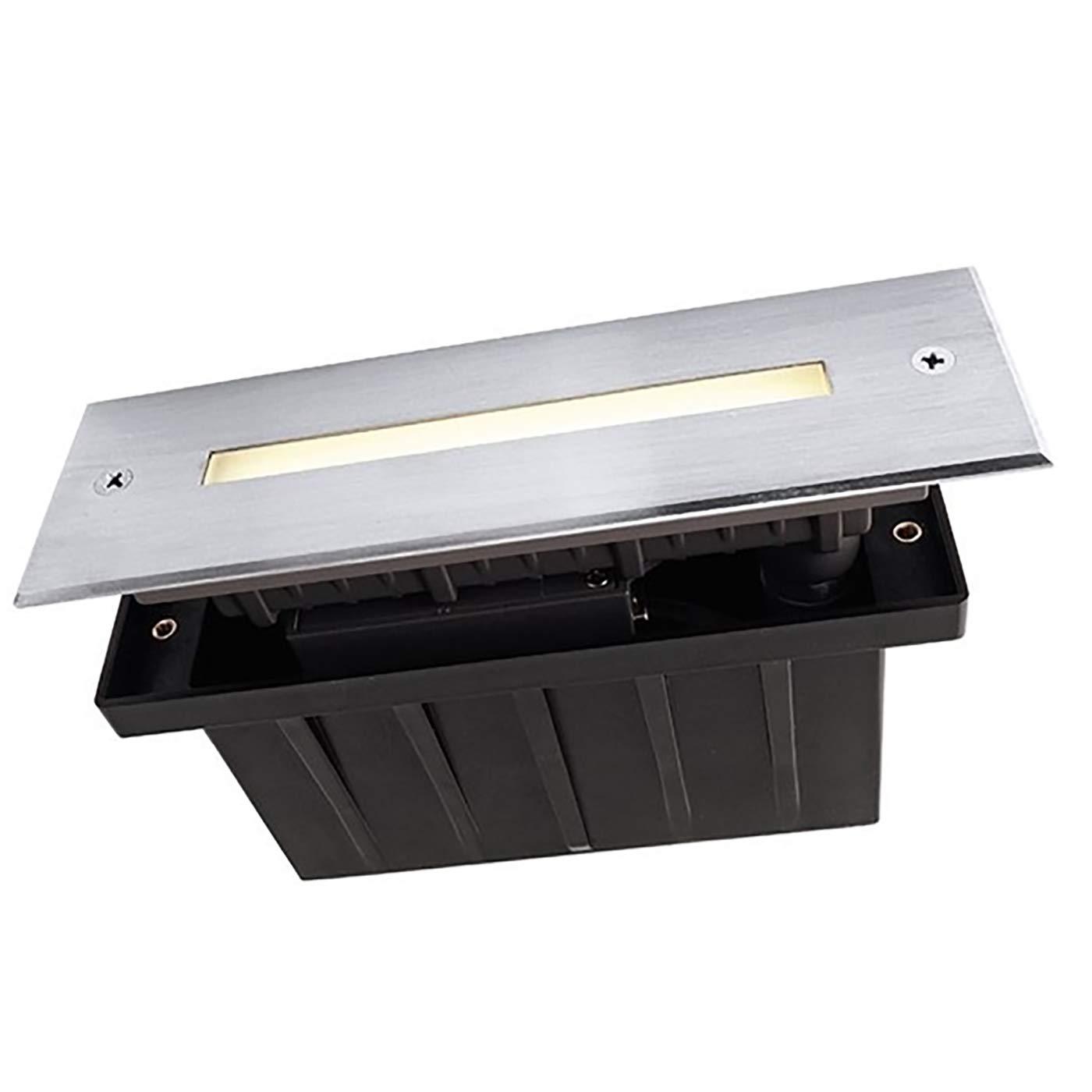 Faretto calpestabile IP67 rettangolare incasso 10 led 2w luce calda 3000K 230V