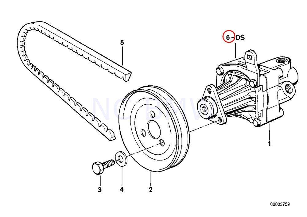 Amazon Com Bmw Genuine Gasket Set Vane Pump Automotive