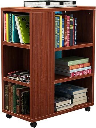 Estante para libros Chunlan Librería de Madera - Móvil - La Mesa Auxiliar del sofá de la Sala de Estar - 29 * 55 * 70 cm - 6 Colores (Color : D): Amazon.es: Hogar