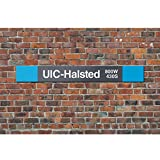 Chicago CTA Metal Sign - UIC-Halsted