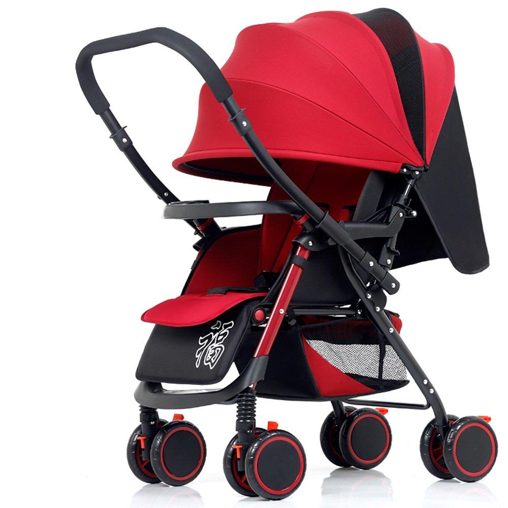 HAIZHEN マウンテンバイク 2. Nunca deje al niño desatendido mientras está en la carriola. Asegúrese de no dejar que el bebé se arrastre fuera de la barra o se pare en la carriola. 新生児 B07C88LC9N 赤 赤