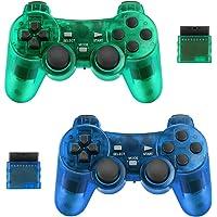 2-pack draadloze controller voor PS2 Playstation Achort 2.4G Gamepad Joystick Remote met Dual Shock Vibration Sensitive…