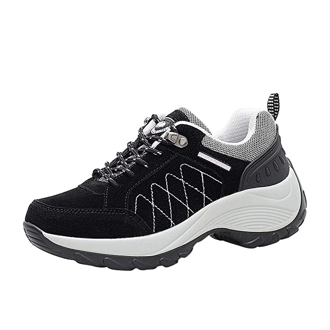 BBestseller-Zapatos deportivos mujer Aumento de los zapatos de cuero nubuck casual zapatos plataforma sacudida
