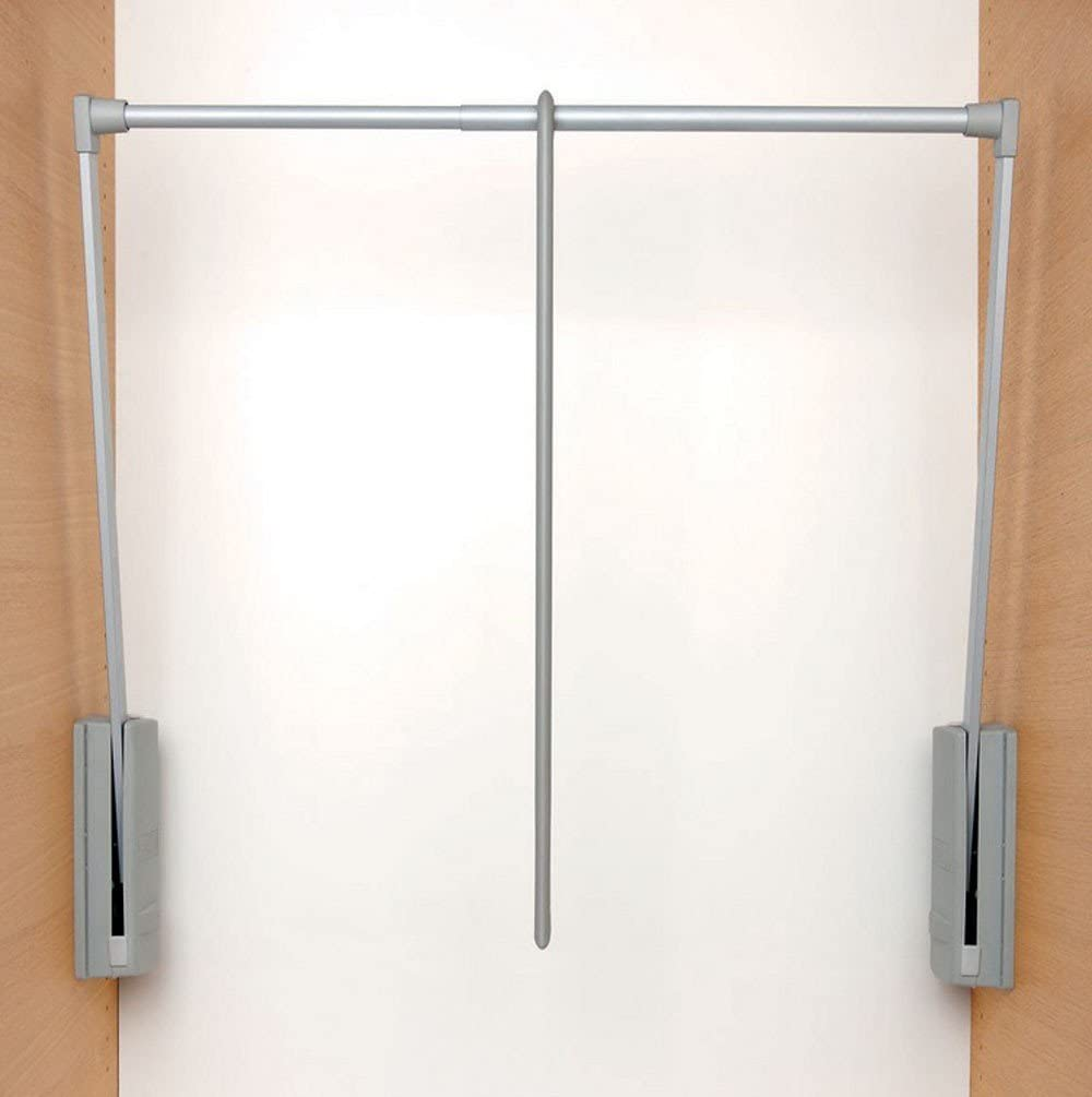 Barra para armario regulable, gris, compatible con armarios ...