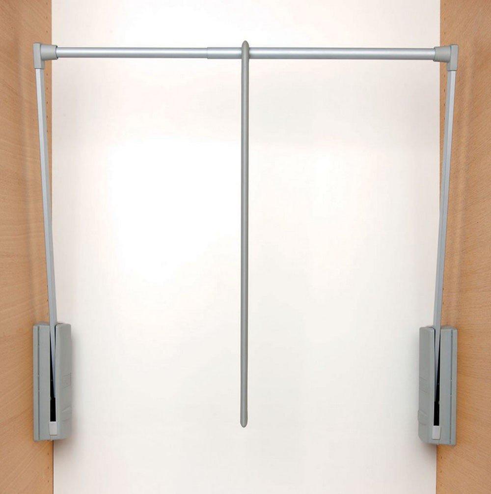 Servetto Originale ausklappbare Kleiderstange, Wandstange, grau, für den Schrank, 77–120 cm