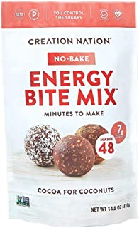 product image for Value-Size! No-bake Energy Bite Mix - Makes 48 Energy Bites, Protein Balls, No-bake Cookies. 7-9g protein/ serv, tastes like a chocolate coconut cookie! Keto, Paleo, Vegan, Gluten Free, No Sugar Added