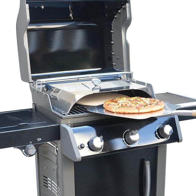 Amazon.com: Pizza cubierta fix-attachment para parrillas de ...