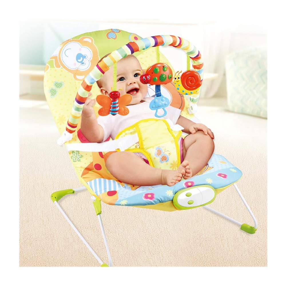 JFMBJS Baby Electric Rocker Chair, Portable Baby Music Soothing Vibration Comfort Bouncer, Multifunctional Rocking Chair Toy for 0-3 Years Old Baby by JFMBJS