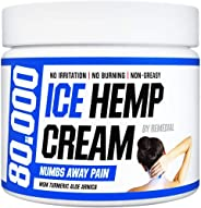 Hemp Pain Relief Cream 80 000 MG – Relieves Arthritis, Back and Muscle Pain – Foot, Knee, Joint, Fingers and Neck Inflammatio