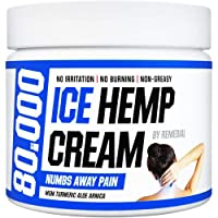 Hemp Pain Relief Cream 80 000 MG – Relieves Arthritis, Back and Muscle Pain – Foot, Knee, Joint, Fingers and Neck Inflammation Therapy – Hemp Oil Extract Remedy with MSM and Arnica – 2 fl. Oz