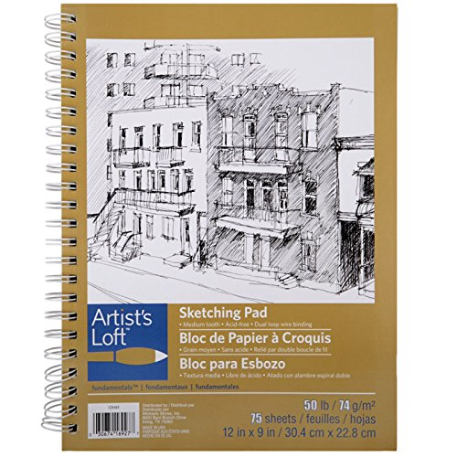 Artist's Loft Fundamentals Sketching Pad Spiral Bound 9 x 12 by Artists Loft
