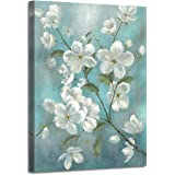 Flower Twig Wall Art Painting - Cherry Blossoms Picture Hand-Painted on Wrapped Canvas for Living Room