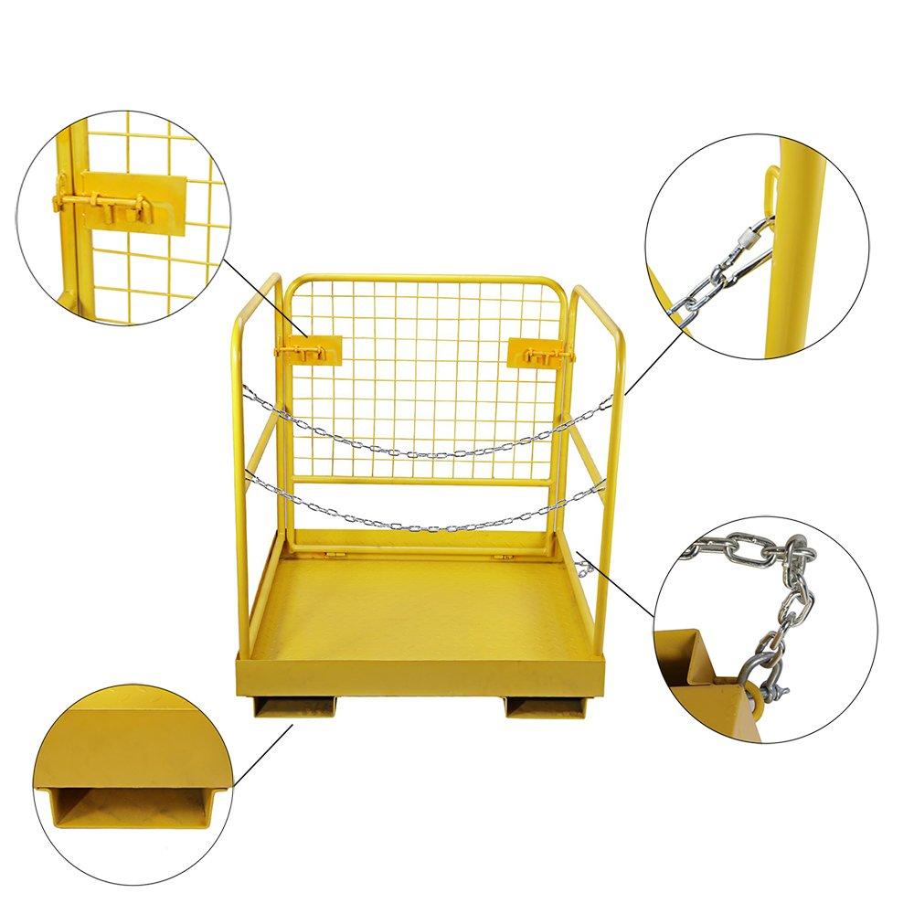 BEAMNOVA Forklift Safety Cage Work Platform Collapsible Lift Basket Aerial Rails 36''x36'' by BEAMNOVA (Image #4)