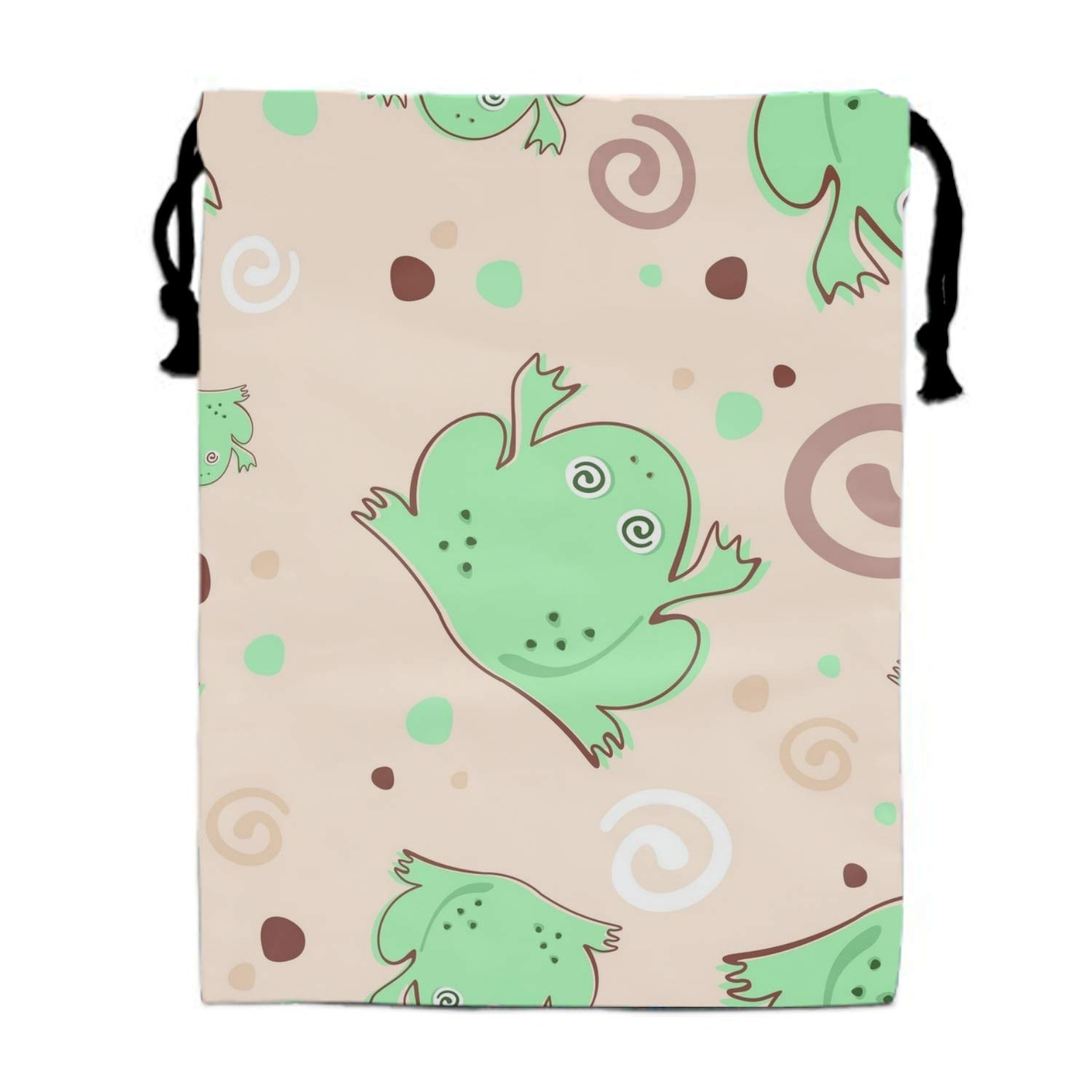 Fuzzing Frogs Drawstring Backpack Bags Goody Bags Party Favor Bags Supplies for Boys and Girls