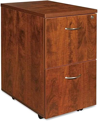 Lorell Mobile Pedestal, File File, 16 by 22 by 28-1 4-Inch, Cherry
