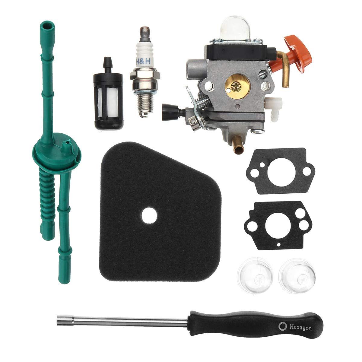 Desconocido Carburetor - Junta de Filtro de Combustible para STIHL FS38 FS45 FS46 FS55 KM55 FS85 COD