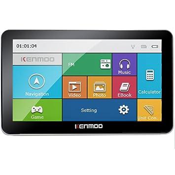 kenmoo 8 GB de 7 pulgadas TFT LCD de pantalla táctil GPS coche navegación GPS para coche/camión Mapas de Reino Unido UE: Amazon.es: Electrónica