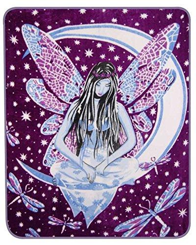 Purple Fairy Medium Weight Faux Fur Blanket