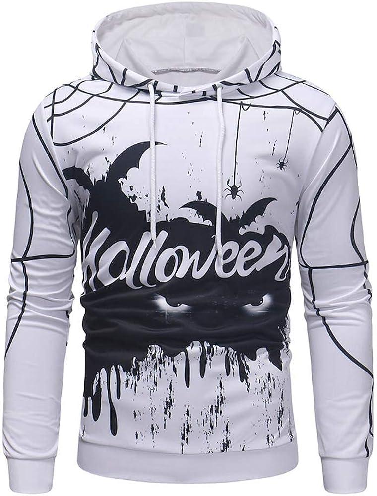 OSTELY Mens Hoodie Autumn 3D Printed Hooded Long Sleeve Pullovers Casual Coat Tops Sweatshirts