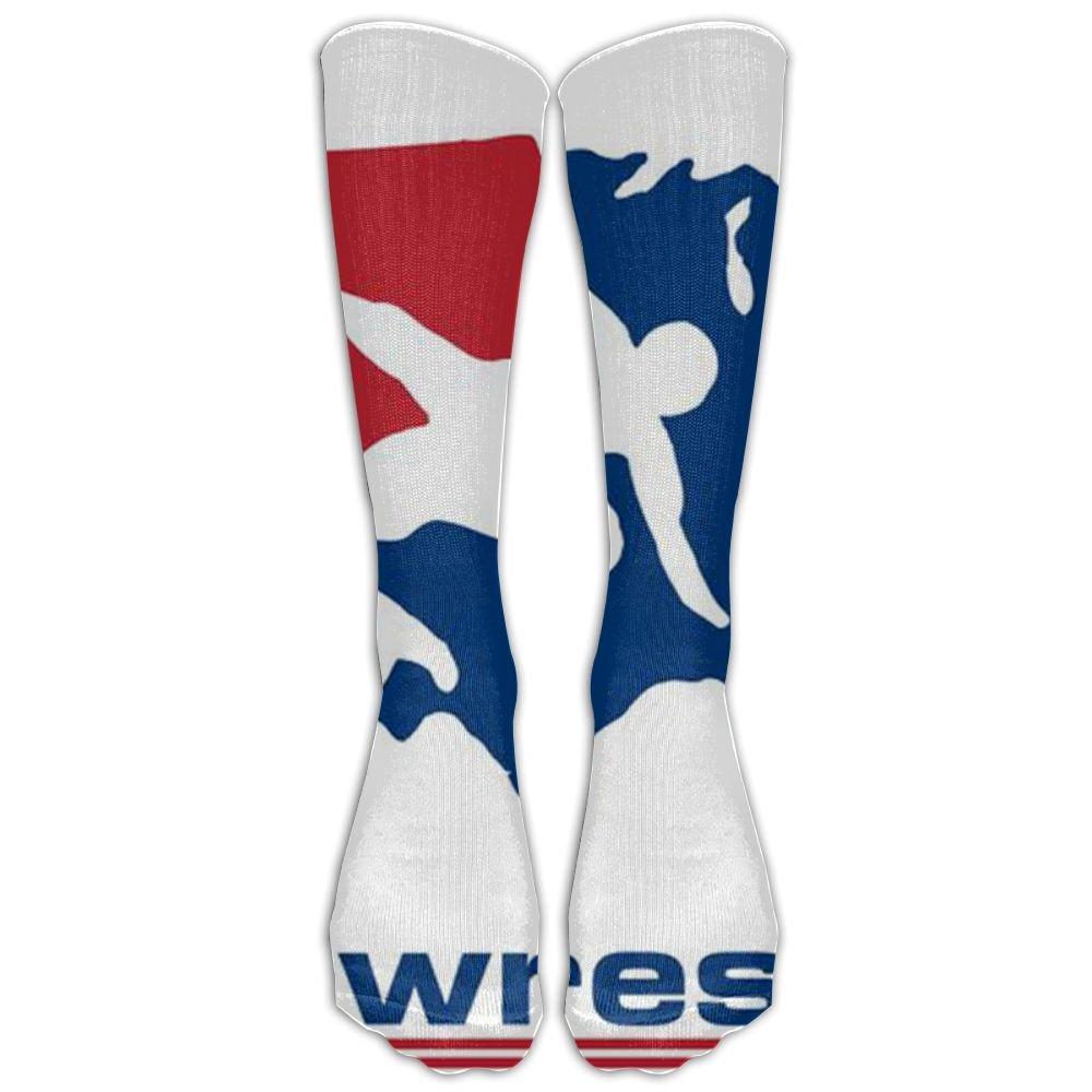 US Wrestling Sign Casual Tube Socks For Unisex Jogging Chic Long Socks