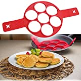 Kyson Nonstick Silicone Pancake Ring, Fried Egg Mold Egg Ring Egg Shaper,Fast & Easy Way to Make Perfect Pancakes