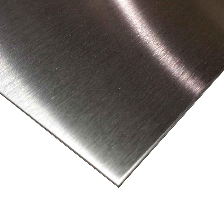 Online Metal Supply 430 (#4 Brushed) Stainless Steel Sheet 0.035'' (20 ga.) x 12'' x 24'' by Online Metal Supply