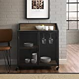 WE Furniture AZU33SOIBCRO Bar Cabinet, 33