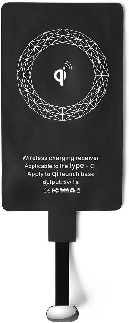 CHOETECH Qi Receptor USB C, Wireless Charging Qi Receiver, Type C Induktions Cargador Receptor para OnePlus, Huawei P30/Nova, Sony XZ1, LG G5,Pixel, HTC 10 Android-Handy Type C Dispositivos