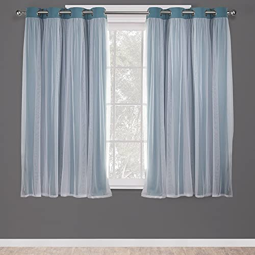 Best window curtain panel: Exclusive Home Curtains Catarina Layered Solid Blackout and Sheer Window Curtain Panel Pair