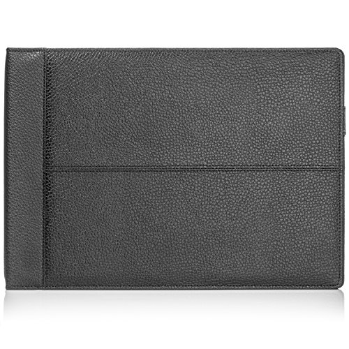 Business Cheque Book Cover : Ring on a page business check book binder black