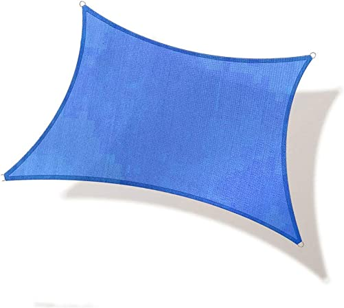 REPUBLICOOL Rectangle 8'x12' Blue Sun Shade Sail UV Block Awning Cover