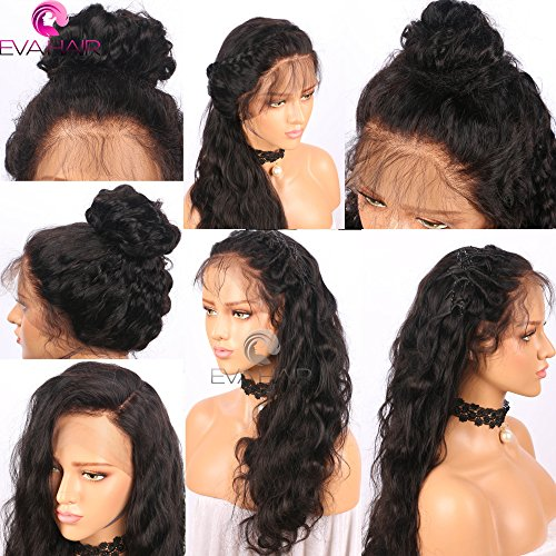 13x6 Lace Front Human Hair Wigs for Black Women Pre plucked Brazilian Virgin Hair 150 density Lace Front Wig Glueless Body Wave Front Lace Wigs with Baby Hair (14 Inch,150 density,13x6 Lace Front Wig) by EVA HAIR (Image #3)