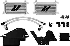 Mishimoto MMOC-EVO-08 Oil Cooler Kit Compatible With Mitsubishi Lancer Evo X 2008-2015 Silver