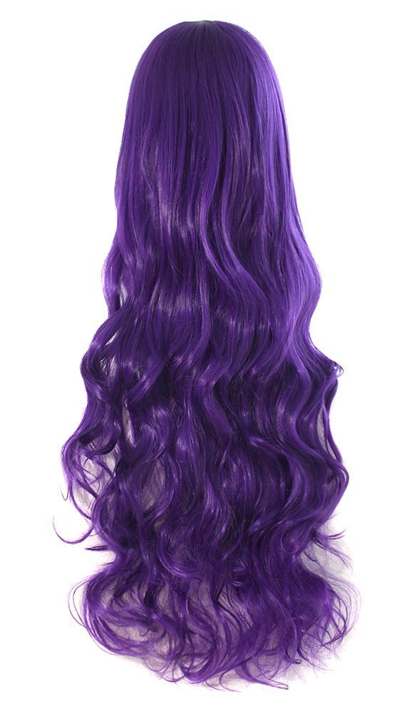 MapofBeauty 32 80cm Long Hair Spiral Curly Cosplay Costume Wig (Silver Gray)