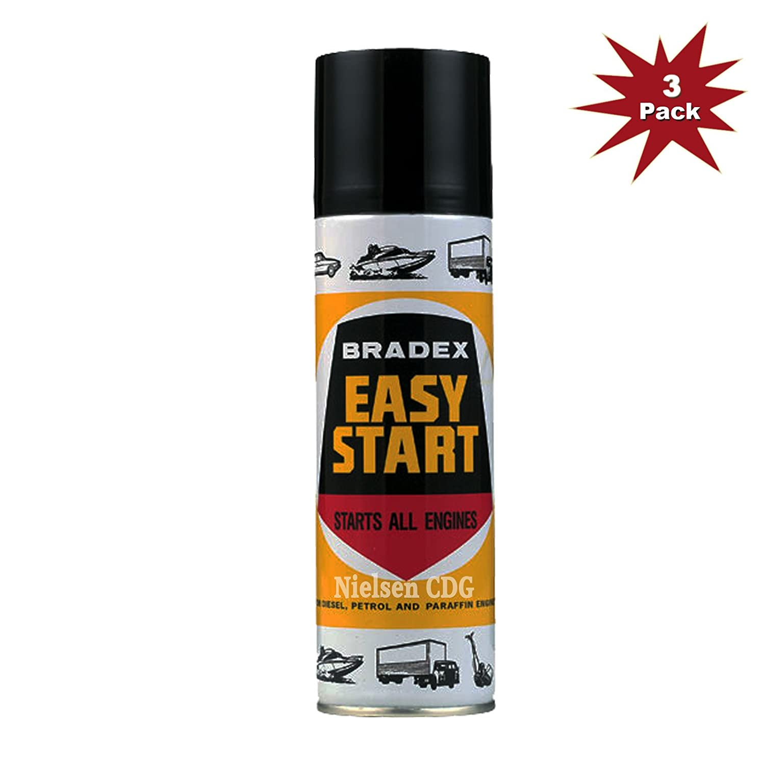 Bradex Easy Start HOL-BES1A-3 - 3x300ml = 3 Pack Holt LLoyd