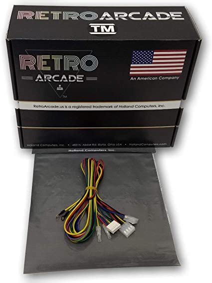 amazon.com: retroarcade.us ra-wire-harness-tb3 jamma track ball replacement wiring  harness for 3 trackball 60-in-1 setup: toys & games  amazon.com
