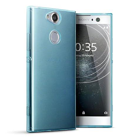 Terrapin, Kompatibel mit Sony Xperia XA2 Hülle, TPU Schutzhülle Tasche Case Cover - Transparent Blau EINWEG