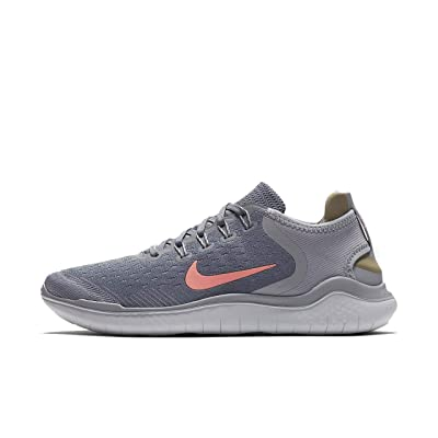 Nike Women's Free RN 2019 Running Shoes-Gunsmoke/Crimson Pulse-9.5: Nike: Sports & Outdoors
